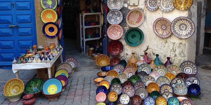 Colori del Marocco: ceramiche di