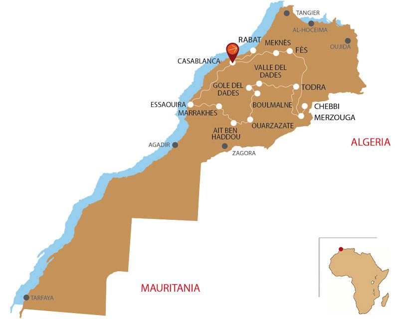 Mappa Città Imperiali 12 giorni
