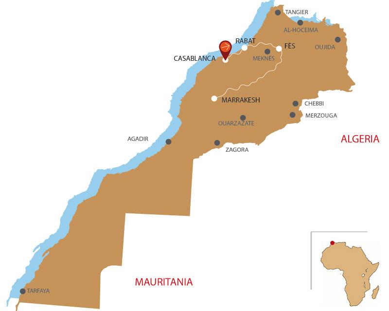 Mappa Città Imperiali 8 giorni