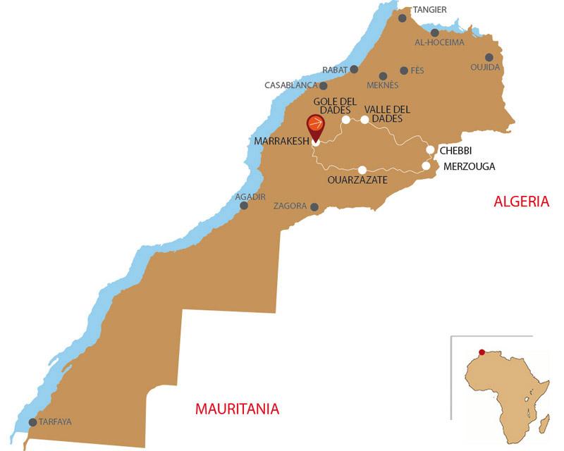 Mappa Marrakech 5 giorni