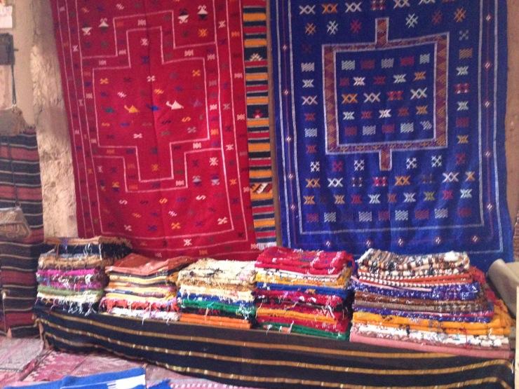 Tappeti berberi in un bazaar