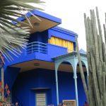 Abitazione blu in Marocco