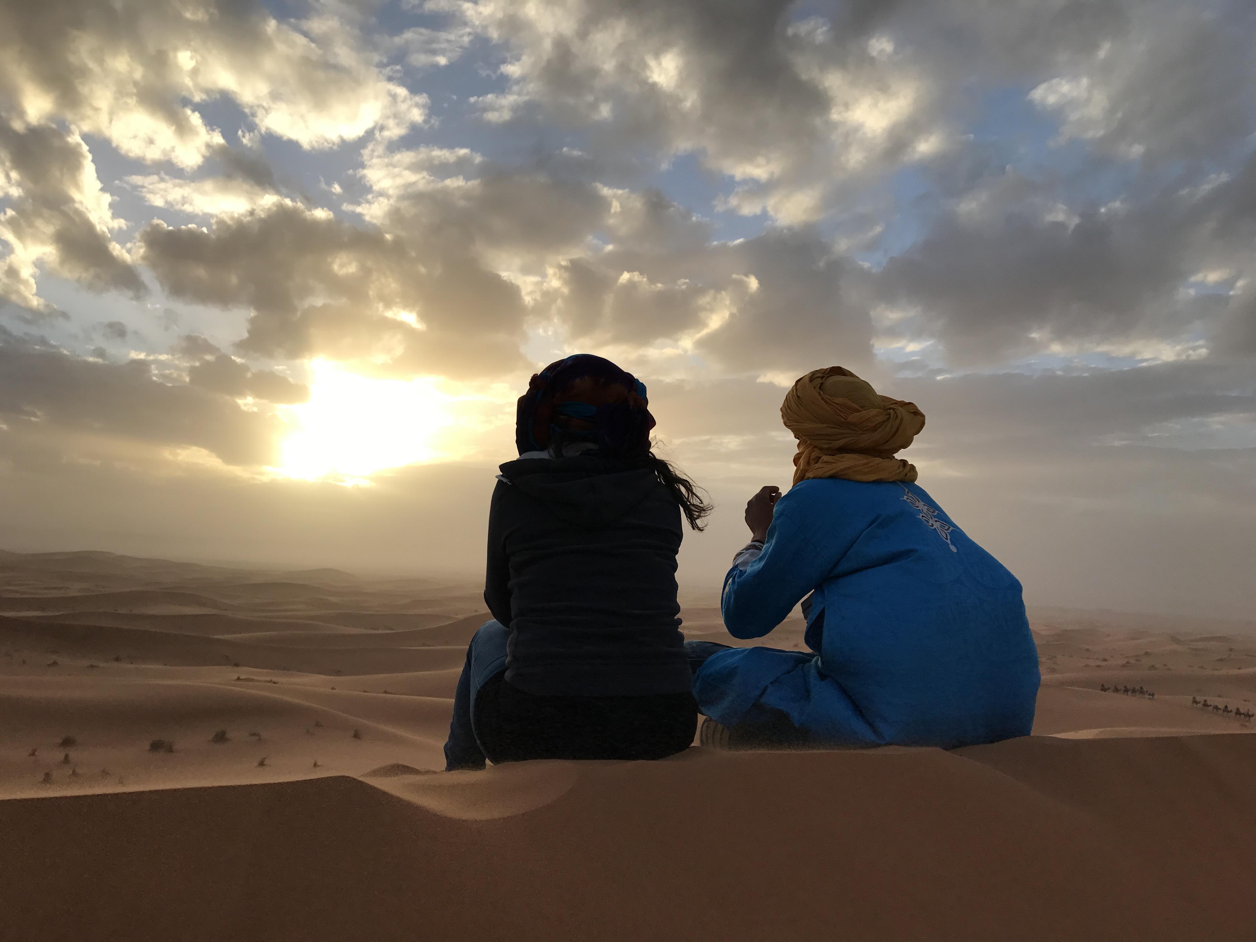 Tramonto sulle dune del deserto - Diario di viaggio Marocco