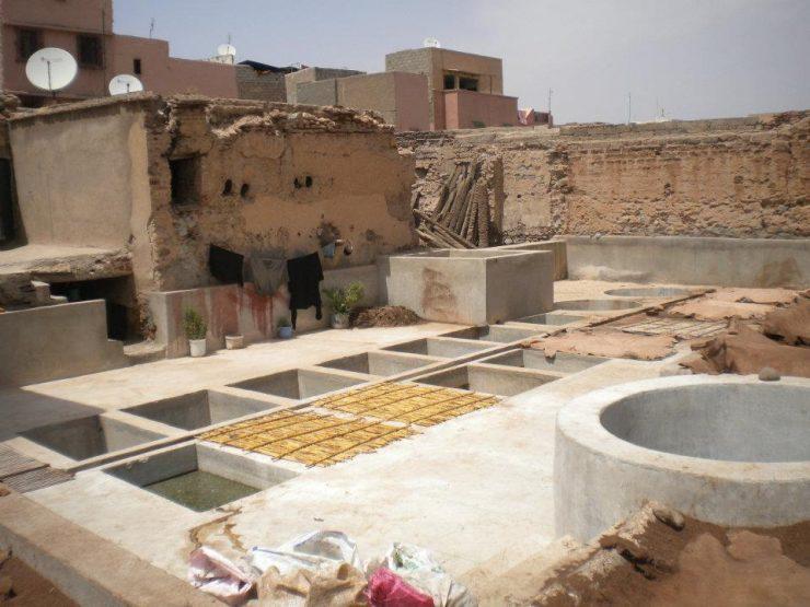 concia delle pelli a marrakech