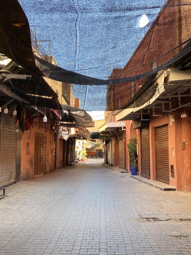 medina di Marrakech durante il lockdown del coronavirus